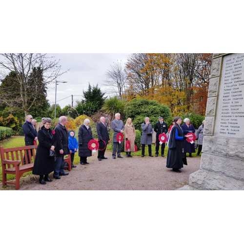 Laying of the Wreaths at Tillicoultry
