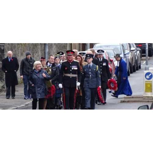Alloa as Lord-Lieutenant leads  the Parade from St Mungo's Parish Church